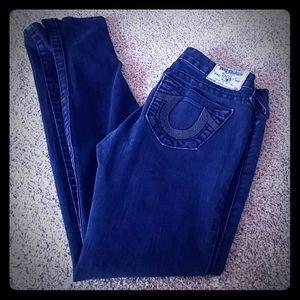 TR Dark Wash Shimmer Pocket Skinny Jeans
